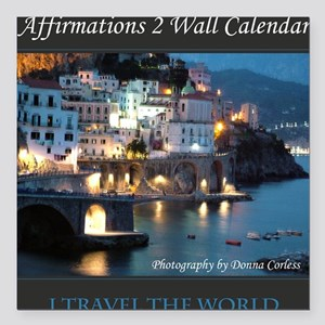 """Affirmations 2 Wall Cale Square Car Magnet 3"""" x 3"""""""
