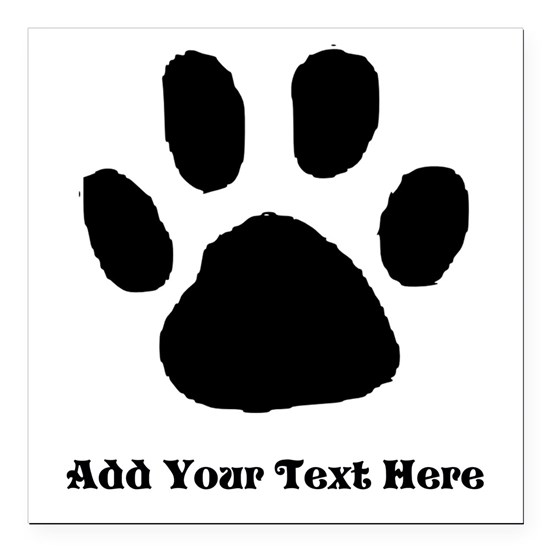 Paw Print Template
