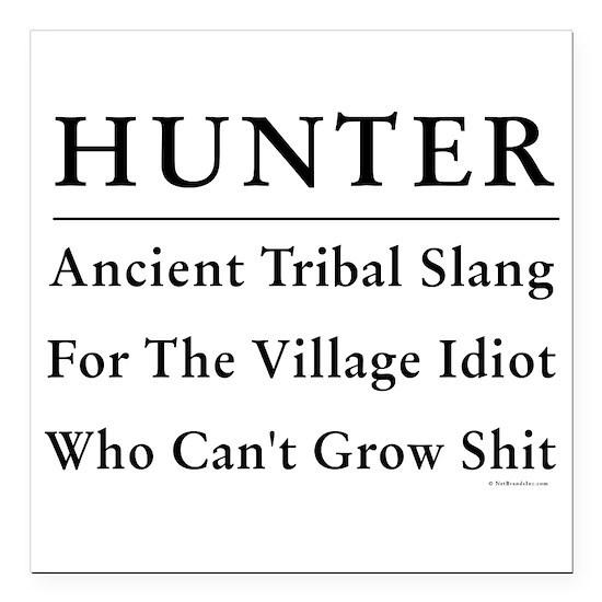 Hunter Square Car Magnet 3