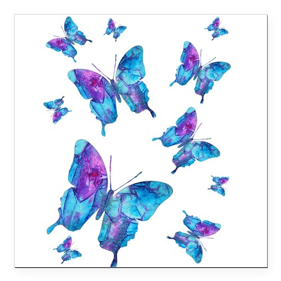 Electric Blue Butterfly Flurry