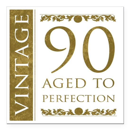 Fancy Vintage 90th Birthday