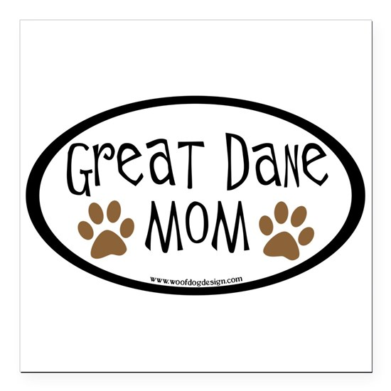 great dane mom oval