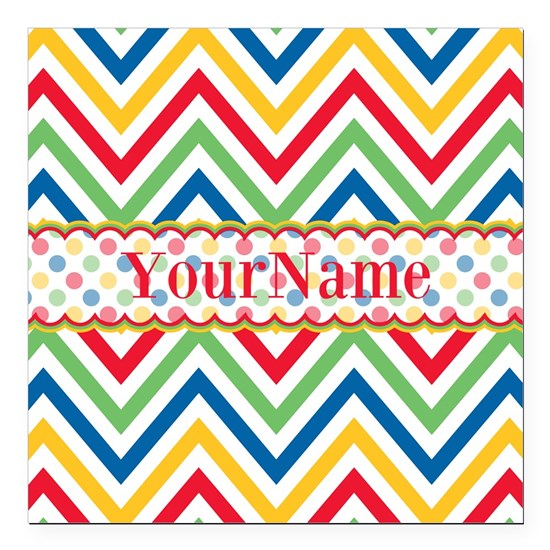 Custom Colorful Chevron Pattern