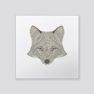 Metallic fox 3d digital art Sticker