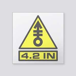 "4.2in Warning Square Sticker 3"" x 3"""
