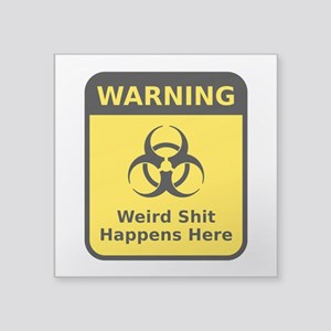 Weird Warning Sign Sticker