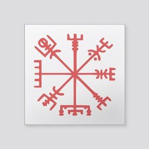 Blood Red Viking Compass : Vegvisir Sticker