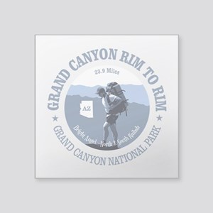 "Grand Canyon Rim to Rim Square Sticker 3"" x 3"""