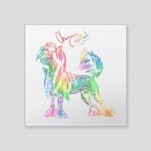 Colorful Chinese Crested Sticker
