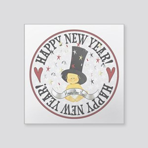 "New Year Baby Square Sticker 3"" x 3"""