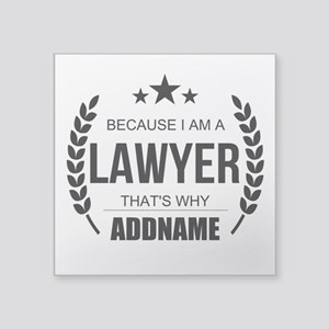 "Lawyer Gifts Personalized Square Sticker 3"" x 3"""