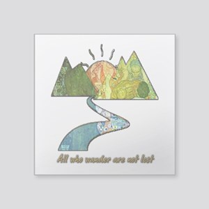 "Wander Square Sticker 3"" x 3"""