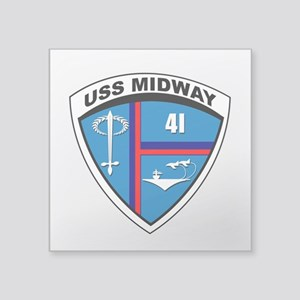 Uss Midway Shield - Clear Sticker