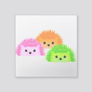 "Hedgy, Vedgy, and Sedgwick Square Sticker 3"" x 3"""