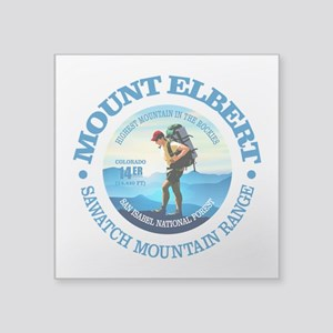 "Mount Elbert (H4) Square Sticker 3"" x 3"""