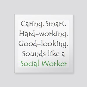 "social worker sound Square Sticker 3"" x 3"""