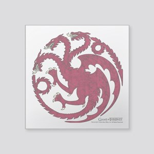 "Game of Thrones House Targa Square Sticker 3"" x 3"""