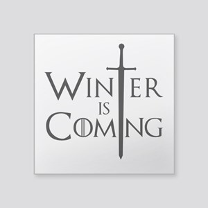 "Game Of Thrones - Winter Is Square Sticker 3"" x 3"""