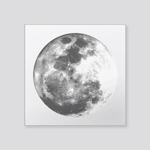 Full Moon Rectangle Sticker