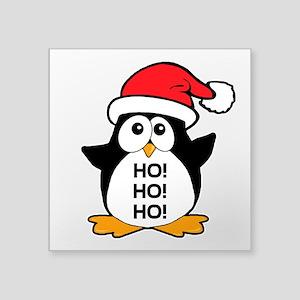3d53a06227490 Cute Christmas Penguin Ho Ho Ho Square Sticker 3