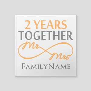 "Gift For 2nd Wedding Annive Square Sticker 3"" x 3"""