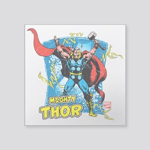 "Mighty Thor Square Sticker 3"" x 3"""