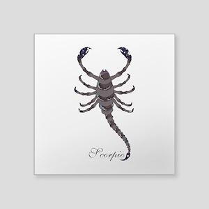"""Starlight Scorpio Square Sticker 3"""" x 3"""""""