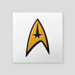 "STAR TREK Classic INSIGNIA Square Sticker 3"" x 3"""