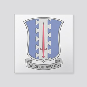 "187th Infantry Regt DUI Square Sticker 3"" x 3"""