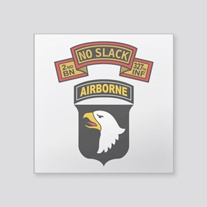 "2-327th - 101st Square Sticker 3"" x 3"""
