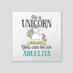 """Unicorn ABUELITA Square Sticker 3"""" x 3"""""""