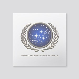 "STAR TREK UFP Insignia Square Sticker 3"" x 3"""