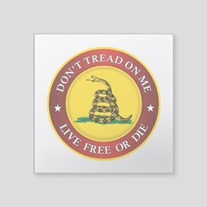 DTOM Gadsden Flag (logo) Sticker