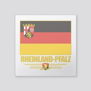 "Rheinland-Pfalz (Flag 10) Square Sticker 3"" x"