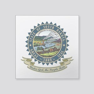 "South Dakota Seal Square Sticker 3"" x 3"""