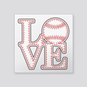 Love Baseball Laces Light Sticker