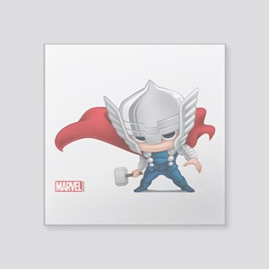 "Thor Stylized Square Sticker 3"" x 3"""