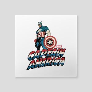 """Captain America Classic Square Sticker 3"""" x 3"""""""