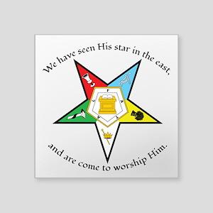 "Eastern Star Matthew 2:2 Square Sticker 3"" x"
