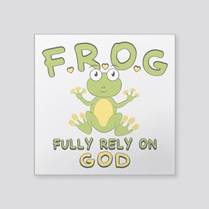 """Fully Rely On God Square Sticker 3"""" x 3"""""""