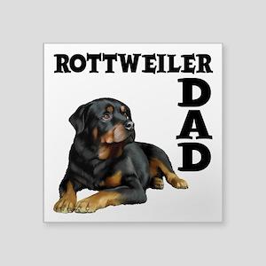 """ROTTWEILER DAD Square Sticker 3"""" x 3"""""""