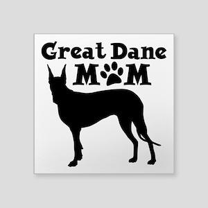 """Great Dane Mom Square Sticker 3"""" x 3"""""""