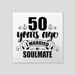 """50th Anniversary Square Sticker 3"""" x 3"""""""