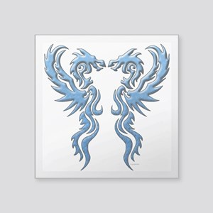 twin dragons new (W) Sticker