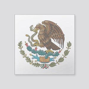 """Mexican Coat of Arms Square Sticker 3"""" x 3"""""""