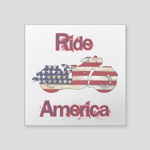 Flag-painted motorcycle-RIDE-1 Sticker