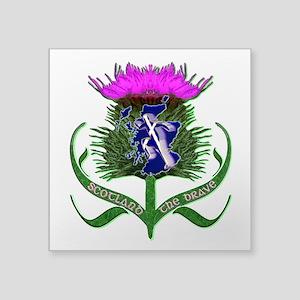 Scottish Runner And Thistle The Brave Sticker