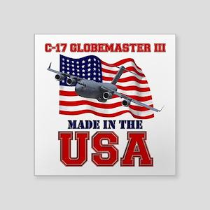 "C-17 Globemaster III Square Sticker 3"" x 3"""