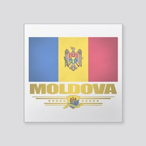 "Moldova (Flag 10) 2 Square Sticker 3"" x 3"""
