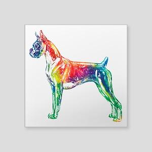 Boxer Color Splash Sticker